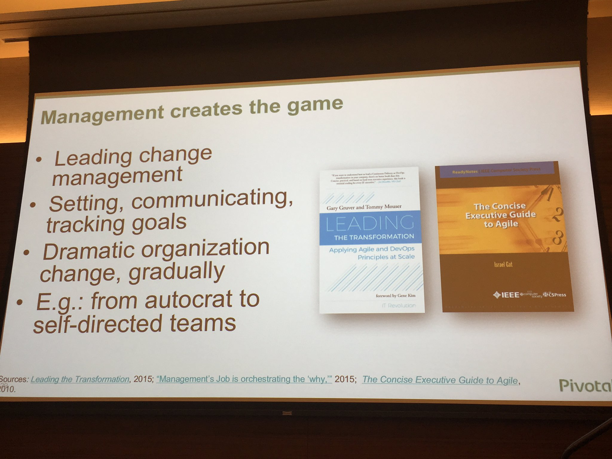 Transformation often means management needs to change too.  @cote at @spring1platform https://t.co/9uVF3a3qTT