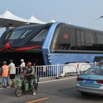Full-scale straddling bus hits the road in China