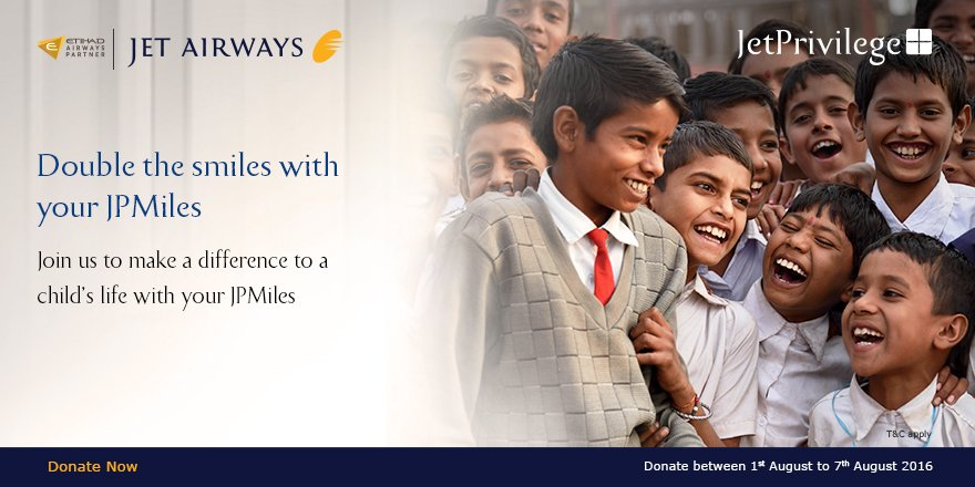 We're 5 million members now! Celebrate by donating JPMiles to make a child's dream come true