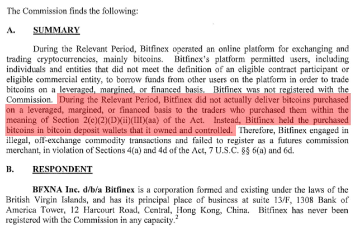 It was regulation that prevented Bitfinex from using secure cold storage. It's right there: https://t.co/8YdLiD9eP1 https://t.co/ivwt1YkXZo