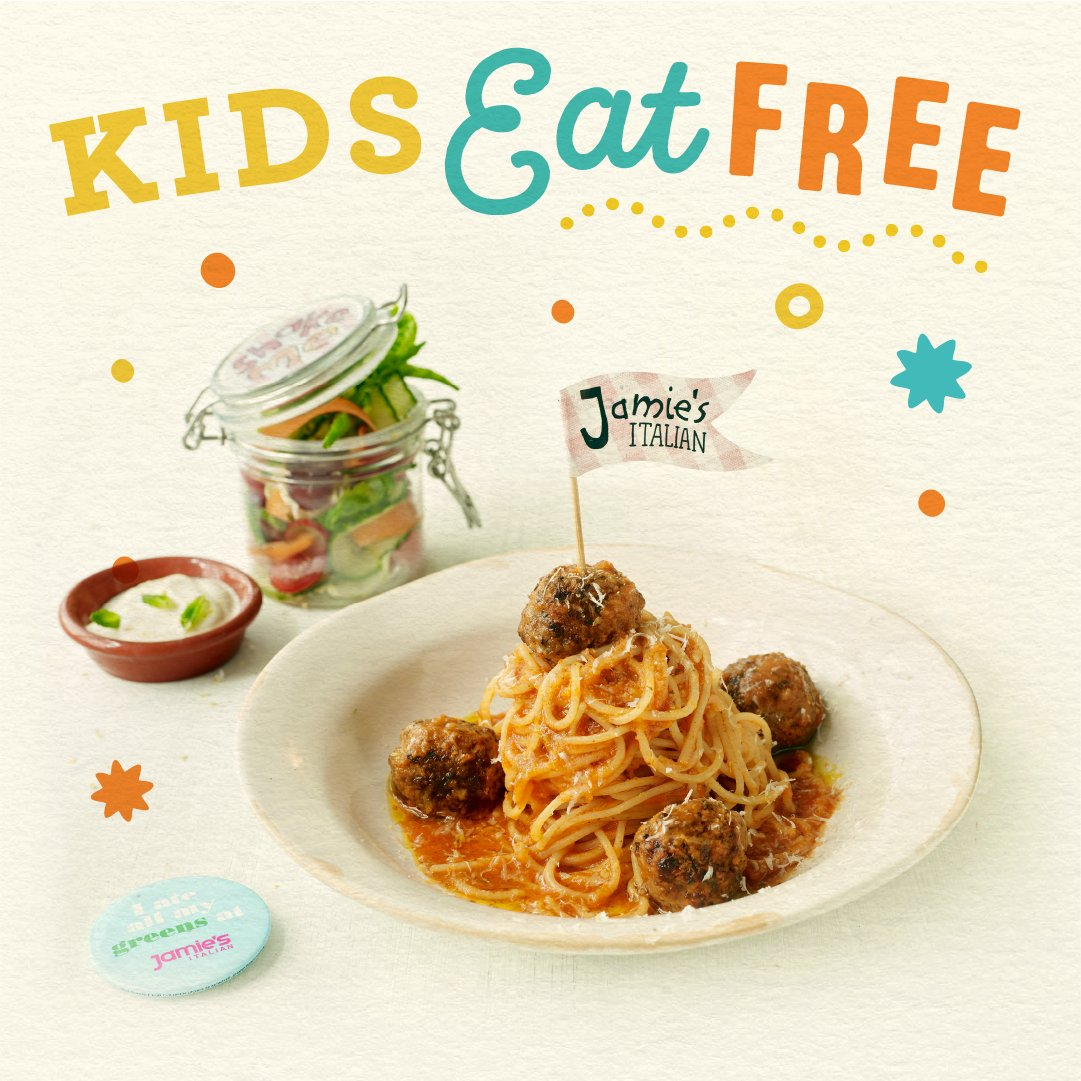 One child eats free for each main course ordered! Just show them this code loverly people KIDSJO https://t.co/KekAsK6yti