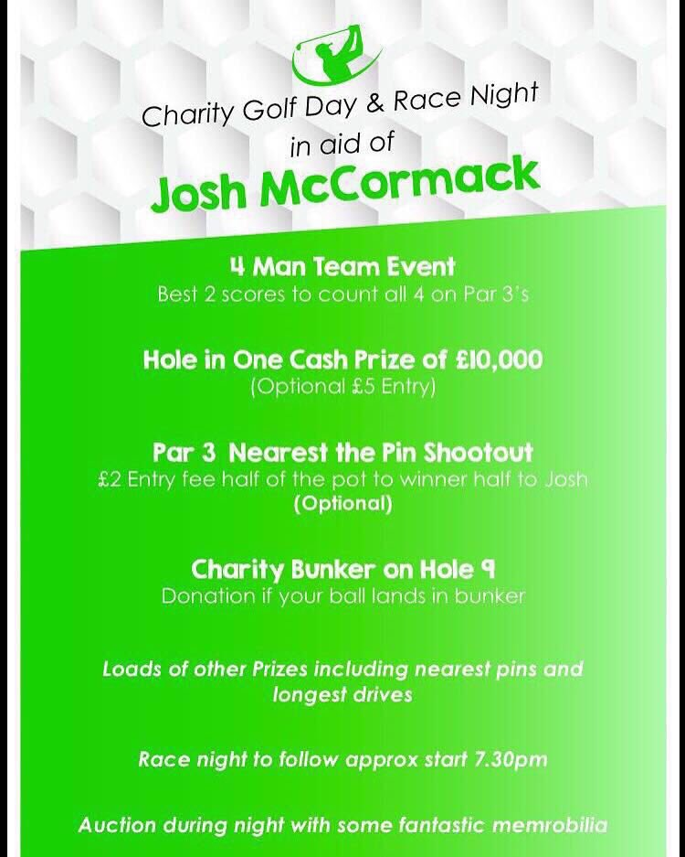 Twitter friends do you fancy playing in the below charity day at Whitefield golf club this Friday 5th tees 11-3 https://t.co/0sHB1S2nWS