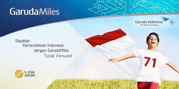Sambut hari kemerdekaan Indonesia dgn menikmati Bonus GarudaMiles & Diskon Redemption. Info