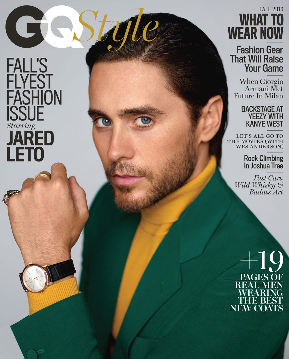 Suicide Squad star Jared Leto covers the fall issue of GQ Style https://t.co/6OA1QDJhup https://t.co/K25REvDX1G