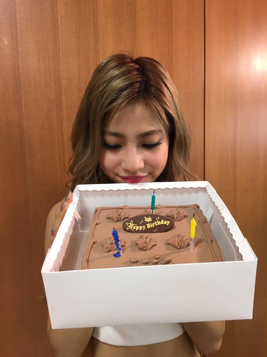 今年もメンバーとスタッフさんにお祝いしてもらって😭  今日の収録でお世話になったTBSの方々にケーキ…