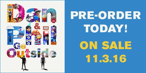 HUGE news! @Danisnotonfire @AmazingPhil's nxt bk, DAN & PHIL GO OUTSIDE--on sale 11.3.16! https://t.co/WVzrHZJ3hW https://t.co/750jbMgzRo