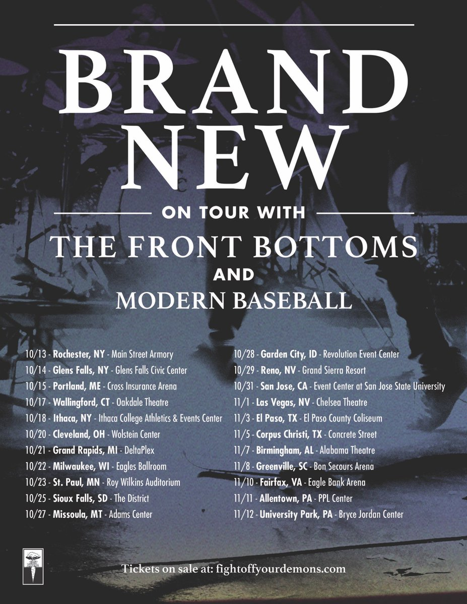 October and November with @TheFrontBottoms and @ModernBaseball. Presale available here: https://t.co/OtLQ1MZjiO https://t.co/pefUU60Joz