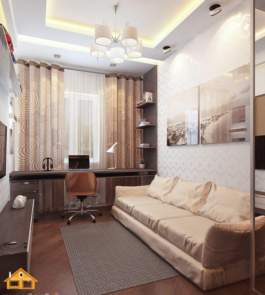 Узкая маленькая гостиная дизайн
