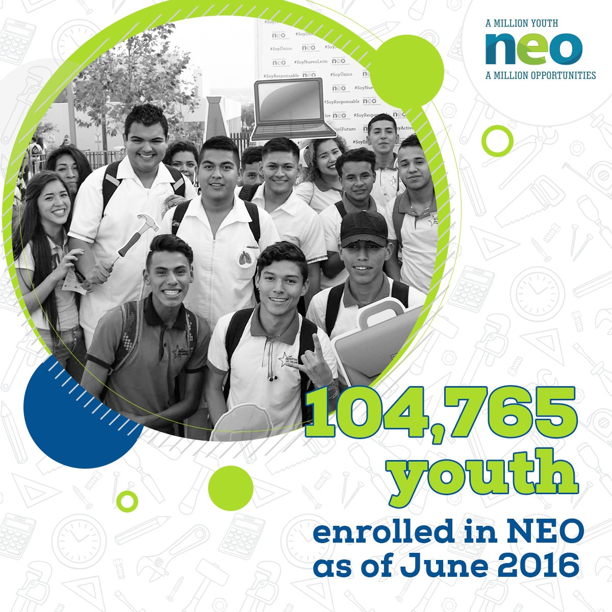 NEO is increasing opportunities for disadvantaged #youth to secure decent employment @jovenesNEO #YoSoyNEO https://t.co/JPZWtBSODF