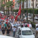 Darbeye karşı yürüyüş yapıldı.  İstasyon Meydanında STK Başkanları ve İl Müftüsü Arif GÖKÇE #Meydanlardayız https://t.co/tD7MC7RvoR