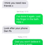 When the boys rob your phone and text your dad for the 5th time in a row #Cunts https://t.co/f9fyWreP1h