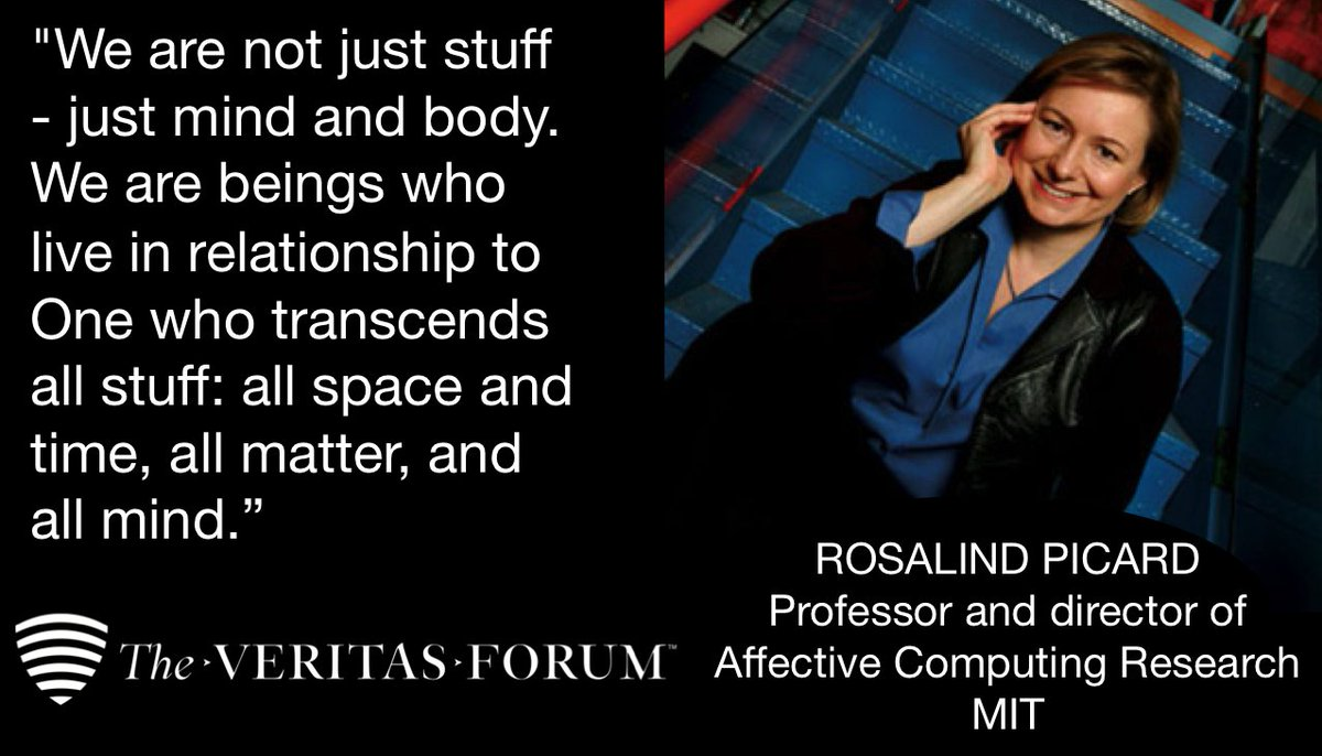 Are human beings more than material? Thoughts from MIT professor and affective computing expert, Rosalind Picard. https://t.co/ubjIwShNJK