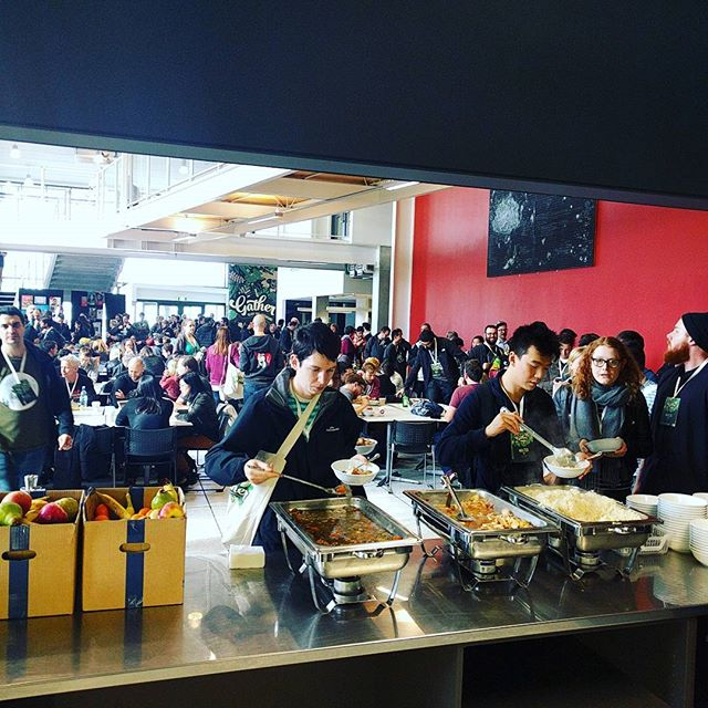 Saturday 23 July, 1:05 p.m. - Lunchtime! #nzgather
