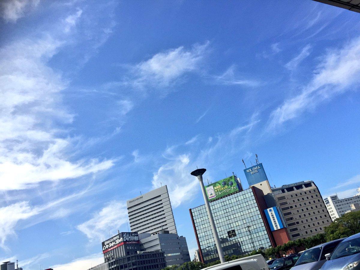 大阪に着いたら 晴れ渡る空とセミの鳴き声に とても夏を感じた。嬉しい☺️  今日は握手会、宜しくお願…
