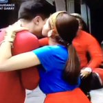 Because power kisses are powerful.😘👊🏻 #ALDUBSuperMA https://t.co/J24unytn2M