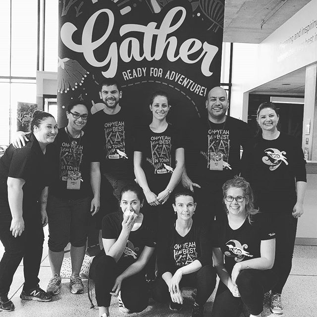 Saturday 23 July, 3:00 p.m. - Our amazing staff doing food and coffee at #nzgather #teamawesomesauce
