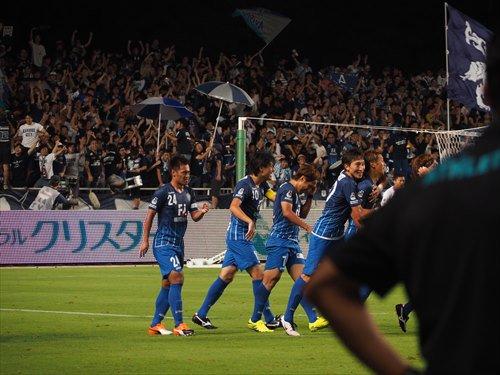 50分、アビスパが先制!!!福岡1-0鳥栖に!!! #avispa