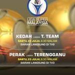 Live MSL games on TV tonight! Kedah v TTeam on TV9 Perak v Terengganu on TV3 Coverage 8:30PM #KEDvTT #PERvTER https://t.co/AhrE57ZTev