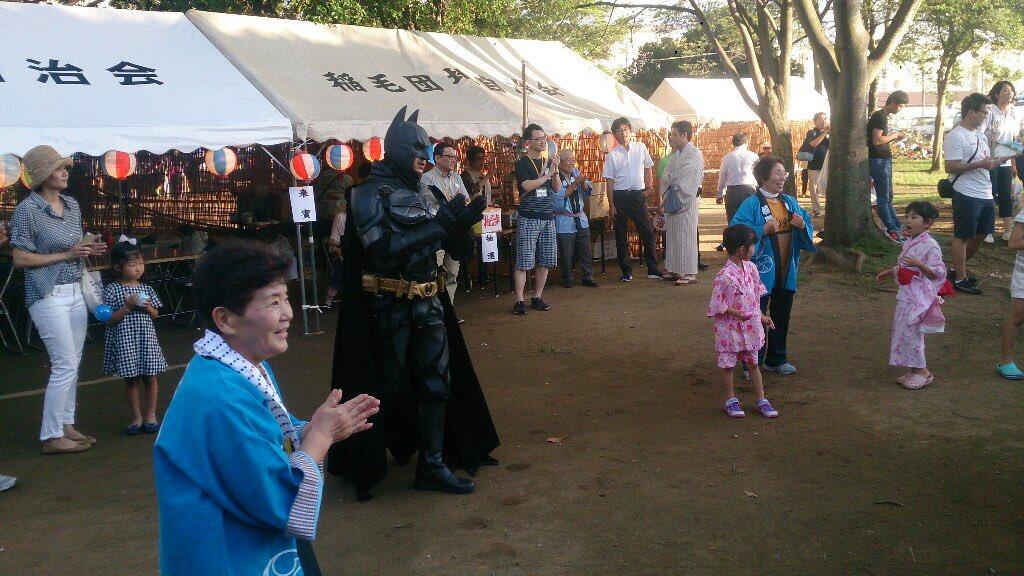 各地域の夏祭り・盆踊りに顔を出していますが、ある会場では千葉ットマンが居てビックリ。久しぶりの再会で…