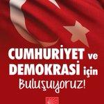 Cumhuriyet ve demokrasiye evet demek için darbelere ve diktaya karşı Pazar günü Taksim meydanında buluşuyoruz. https://t.co/1eA0bB6GqZ