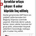 """""""Darbe girişiminde AKPlilerin en şiddetli saldırılarından biri Boğaziçi Köprüsünde yaşandı"""" Solcu haşhaşilik! https://t.co/6PUwxuLGnn"""