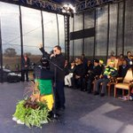 ANC Mayoral candidate, Cde #DannyJordaan addressing members & supporters of the ANC #SiyanqobaRally #DanQeqeStadium https://t.co/cIrGMqggBP