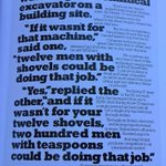 With the hype about robots stealing our jobs, this 30 year old ad from IBM is still relevant. From book by Collins https://t.co/uZ84oSjgK1