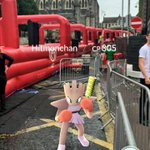 When youre queuing for the #BigSlideHome but gotta catch them all 👀   #PokemonGO #HBGoodbyeSerious https://t.co/Qc9McNxwWN