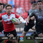 #SuperRugby - RESULT: A superb performance from the Lions as they beat the Crusaders and earn their semi-final spot. https://t.co/tsdDjEfwqZ