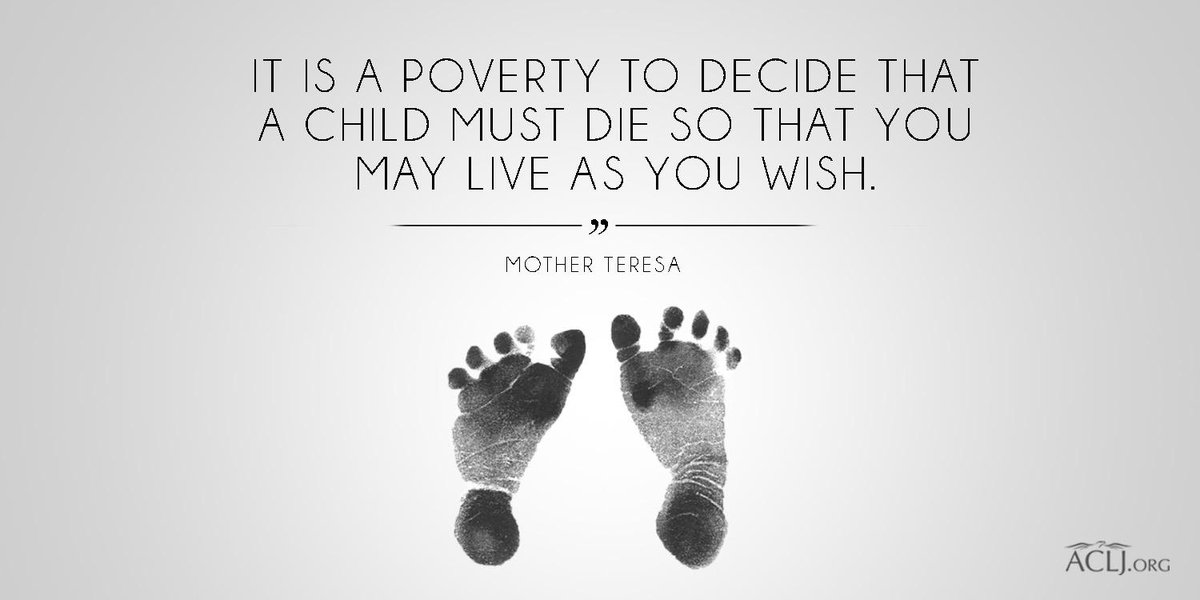"""It is a poverty to decide that a child must die so that you may live as you wish."" - #MotherTeresa #ProLife https://t.co/6bWUgw38MY"