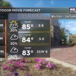 Seeing Jurassic World on the big screen at Biloxi Town Green? Temps in mid 80s when the movie begins at 8 pm. #MSwx https://t.co/Q9SYbWJp5h