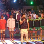 Singing the national anthem is the best feeling ever. Thank you #prokabadi #india https://t.co/WDWpAaqnwB