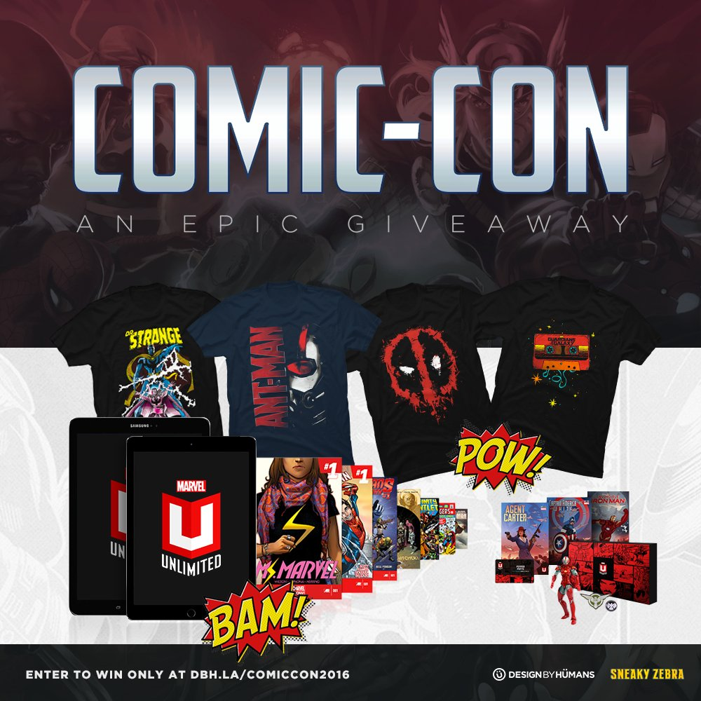 Win a year of Marvel Unlimited Plus and a tablet to read it on in our #ComicCon giveaway! https://t.co/duNp3dDtXO https://t.co/WdMl3LbksS