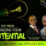 Pastor Idowu Ogedengbe of @HOTR_Ibadan will be ministering at tomorrows Thanksgiving @ 8 and 10am. #MYPotential https://t.co/YBhhtsggla