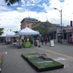 We are set up at Car Free Day on Victoria Street! Come say hi and play some Mini Golf! @dtkamloops #ExploreKamloops https://t.co/3gw0Po0YfH