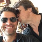 Look who I just snagged a selfie with at #ComicCon, @NathanFillion! (No offense, but hes a bit of a sloppy kisser.) https://t.co/3QdGuUpzrh