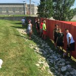 Heres how you paint 50 yards of fence fast!...go FVR youth group! https://t.co/2KRu6oWSLv