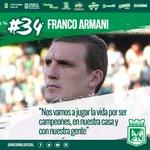 """""""Vamos a dar lo mejor de nosotros para ser campeones de la Copa"""" Franco Armani. #VamosNacional #QueremosLaCopa https://t.co/DnrhE2gAcU"""