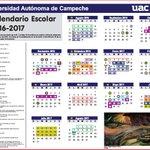 El Calendario Oficial Universitario ciclo escolar 2016-2017, podrás descargarlo del sitio https://t.co/Q3zgQh2dxo https://t.co/IckaUrj4TW