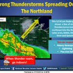 Storms spreading into the Northland. Be prepared for stormy weather. #wiwx #mnwx https://t.co/xQkEOIifFh