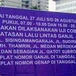 Pemprov DKI Jakarta Uji Coba Pembatasan Kendaraan Ganjil Genap 27 Juli 2016 s/d 26 Agustus 2016 https://t.co/Enk1BPbjap