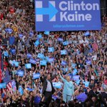 """""""Let's go make history and elect Hillary Clinton the 45th president of the United States."""" —@TimKaine https://t.co/RrEPx0FdXE"""
