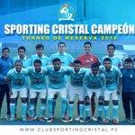 Fin de partido. #SportingCristal se coronó campeón del torneo de Reservas 2016. Felicitaciones muchachos. https://t.co/DMmtpwKI5C
