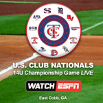 WATCH the U.S. Club Nationals 14U Championship LIVE on @ESPN3 on NOW! 📺 > https://t.co/x6HSivSJ5j https://t.co/1v98TZjeh2