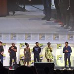 "The cast of #BlackPanther! ""Im looking forward to kicking some ass!"" Lupita Nyongo #MarvelSDCC https://t.co/wzQuep1itu"
