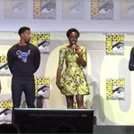 THE BLACK PANTHER CAST ARE SO BEAUTIFUL,,BLESS US ALL KING N KWEENS #BlackPanther #MarvelSDCC https://t.co/f2bWIiVneJ
