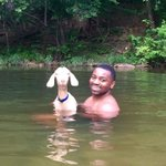 Im so weak my cousin really went swimming with a goat and they both look happy asf 😂😂😂😂😂 https://t.co/cvHzKEweq6