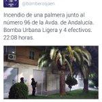 @bomberosjaen Años anteriores: Incendio en misma palmera !! #Jaén https://t.co/8zKdGpaKHN