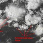 Imagen Satelital visible muestra campos nubosos asociados a tormentas mod a fuertes sobre el país, mov al suroeste.- https://t.co/REK33ZEcDE