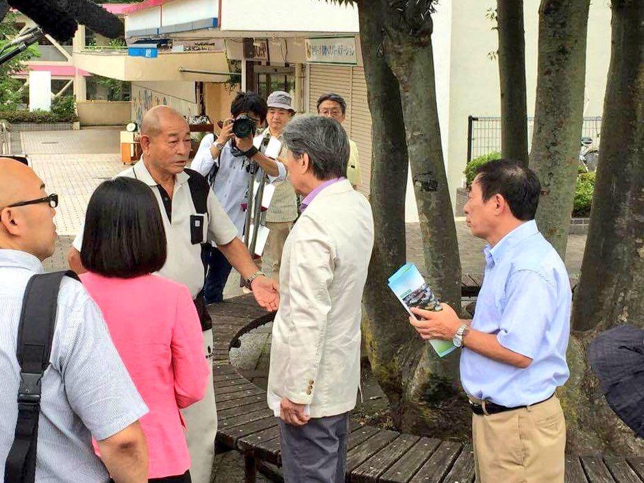 ブリリア多摩ニュータウン建替組合理事長の加藤輝雄氏と、永尾俊文多摩市副市長にご案内をいただきました。…